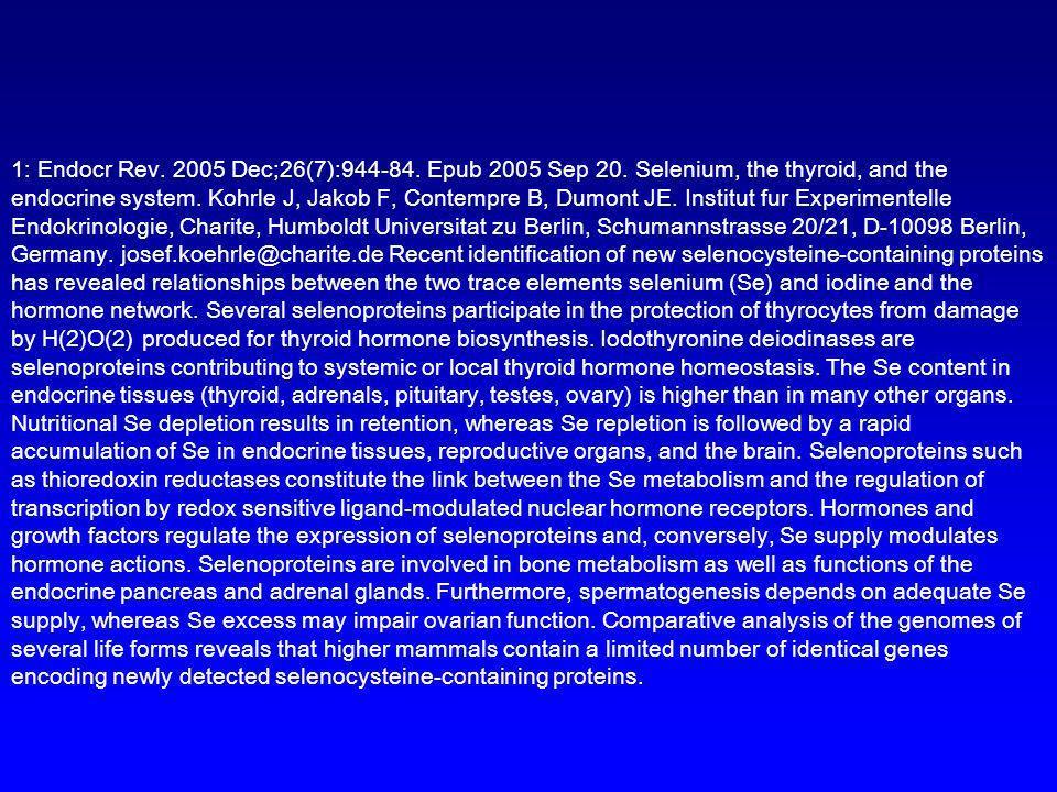 1: Endocr Rev. 2005 Dec;26(7):944-84. Epub 2005 Sep 20