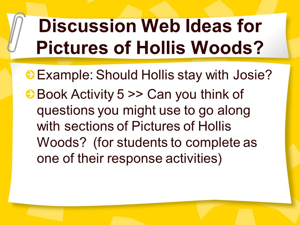 Pictures of Hollis Woods Summary