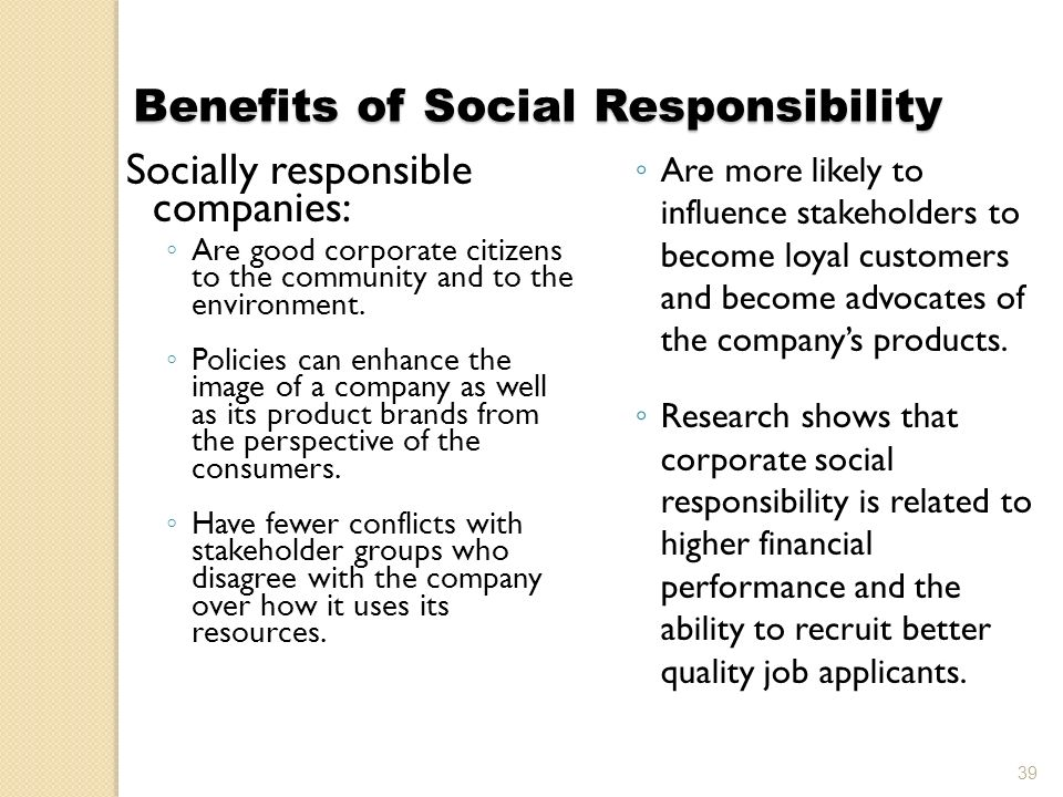 "the benefits of sturbucks social responsibility Corporate responsibility (cr) is the manifestation of a corporation's social and  environmental  in contrast, starbucks' efforts to minimize the negative effects of  its coffee sup-  mum social benefit as well as gains for the business""13 a cr."