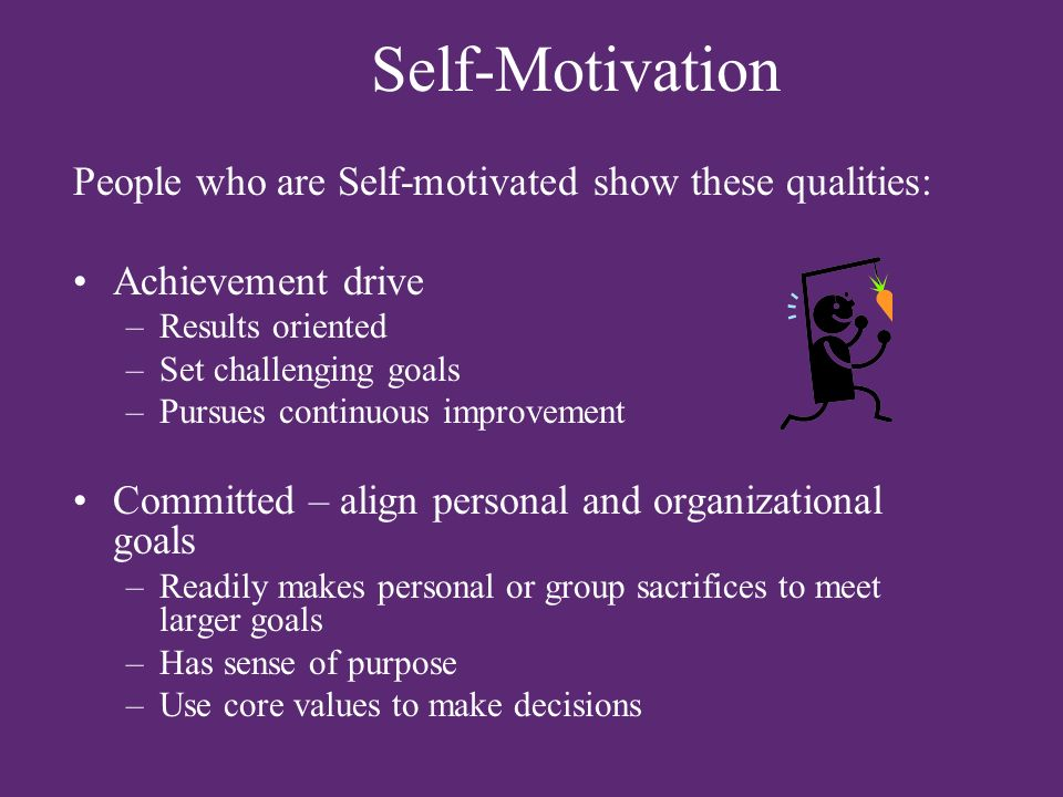 how to become a self motivated person