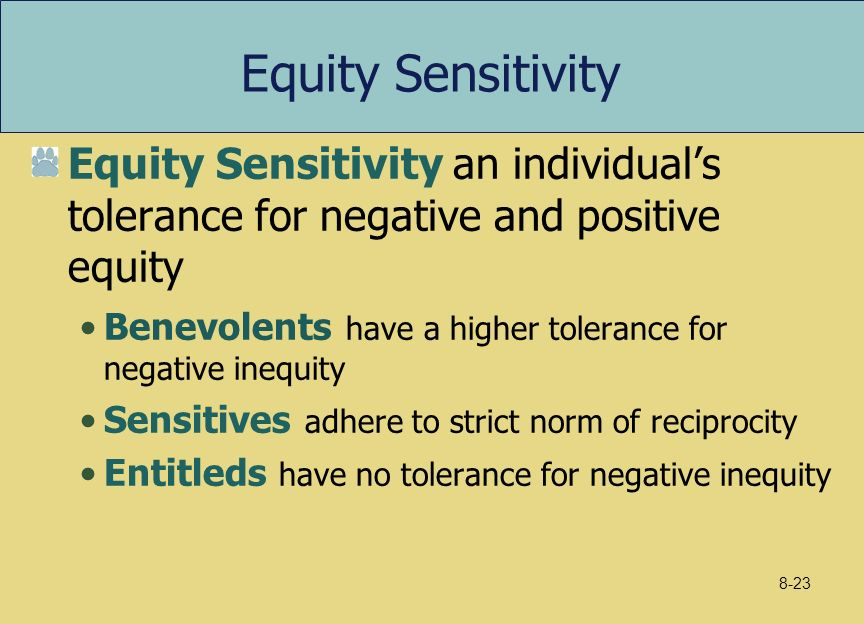 a discussion on motivation and the equity theory John stacy adams introduced equity theory in 1963, and addressed our tendency to compare ourselves to others instead of focusing on money alone, adams' equity theory looks at compensation in relation to our social environment, and its subsequent effect on motivation.
