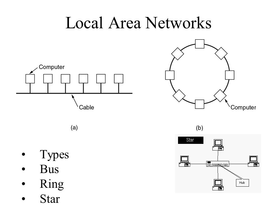 Bus Ring And Star Topologies Are Mostly Used In The