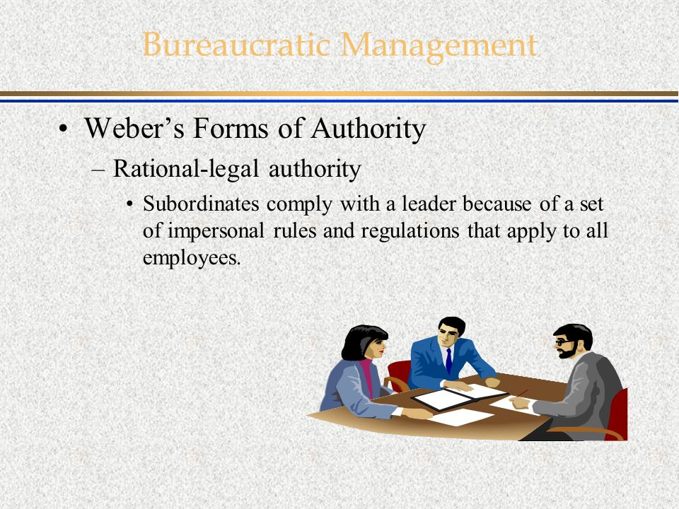 max weber rational legal authority