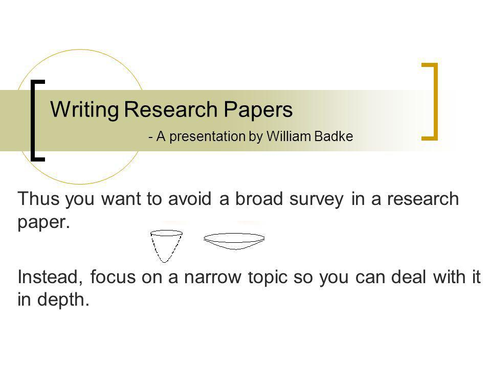 writing a high school research paper powerpoint
