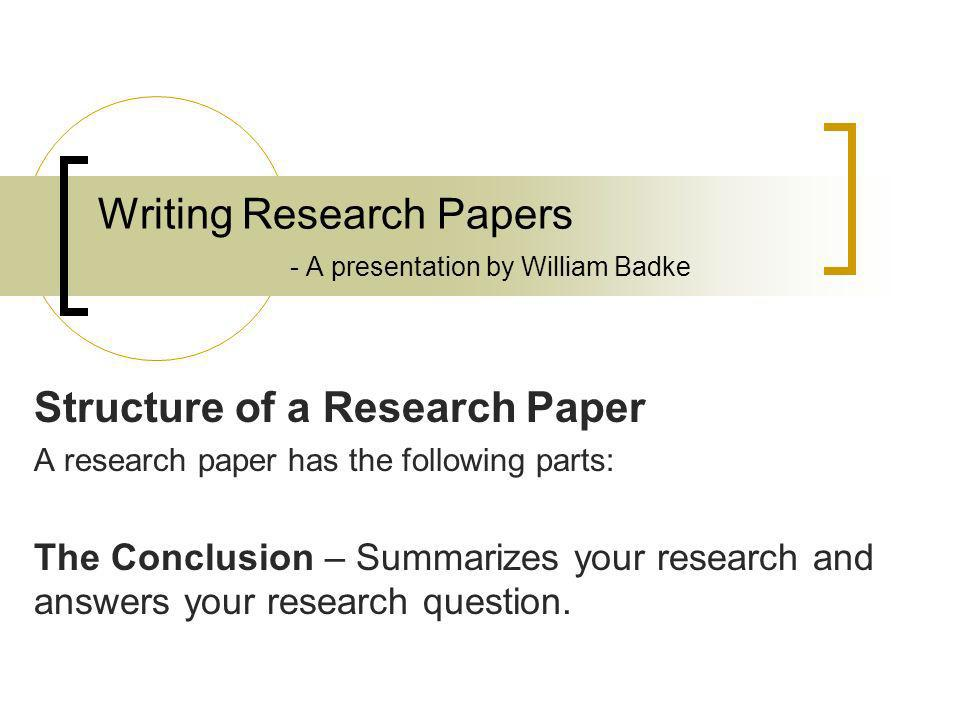 writing conclusion for research paper