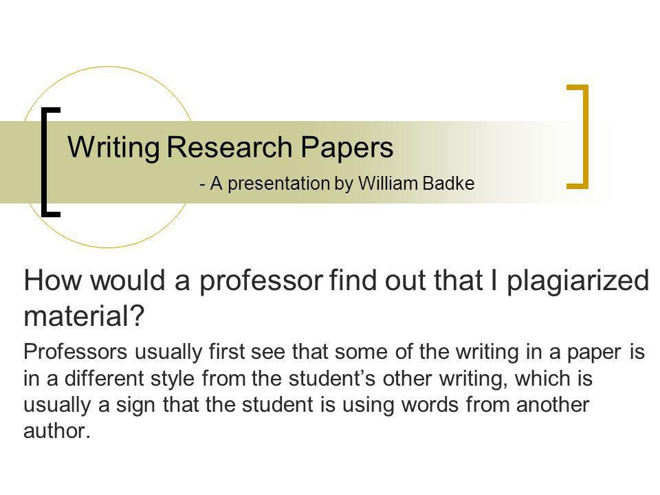 checking research papers plagiarism