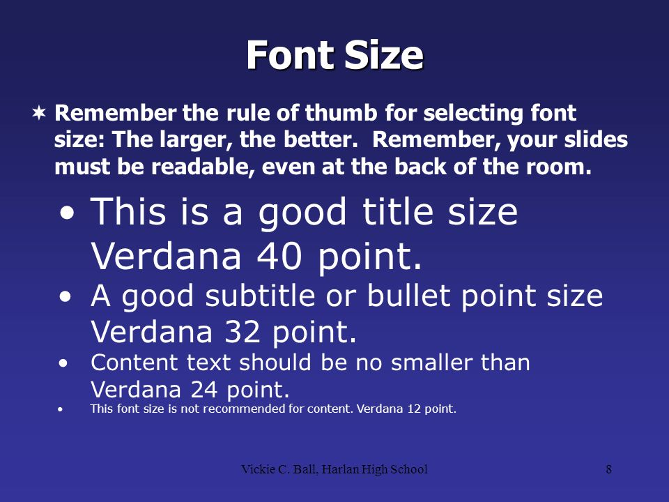 powerpoint presentation guidelines ppt