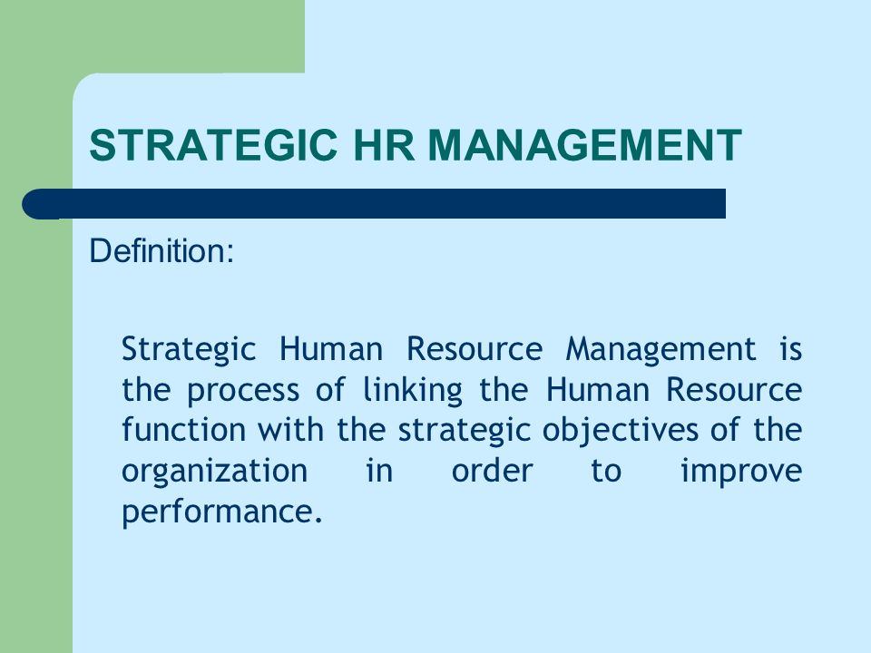 strategic hr management ppt video online download