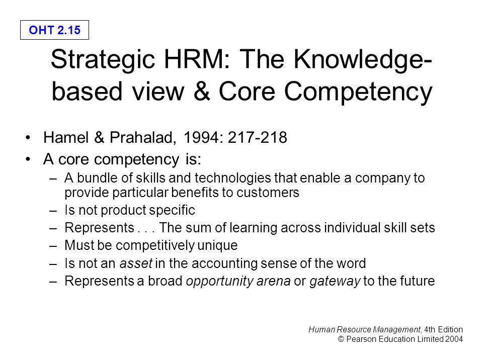 a view of strategic hrm in Request pdf on researchgate | a conceptual review of human resource management systems in strategic human resource management research | a distinguishing feature of strategic human resource.