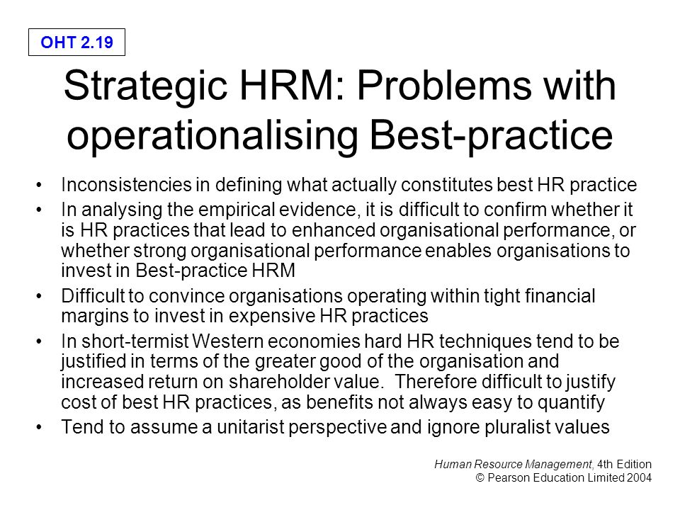 'strategic hrm and performance This study examined the factorial validity of strategic human resource management practices and their effects on company performance in a  of strategic hrm.
