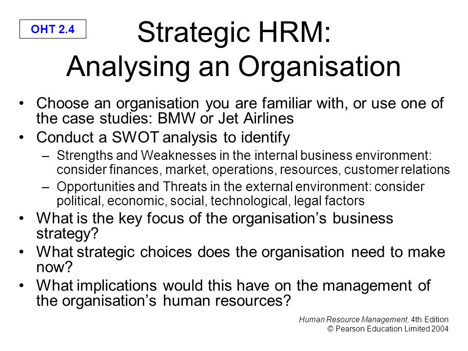 an analysis of an international organisation using hrm Special section: are hrm processes important content vs process in the hrm-performance relationship: an empirical examination.