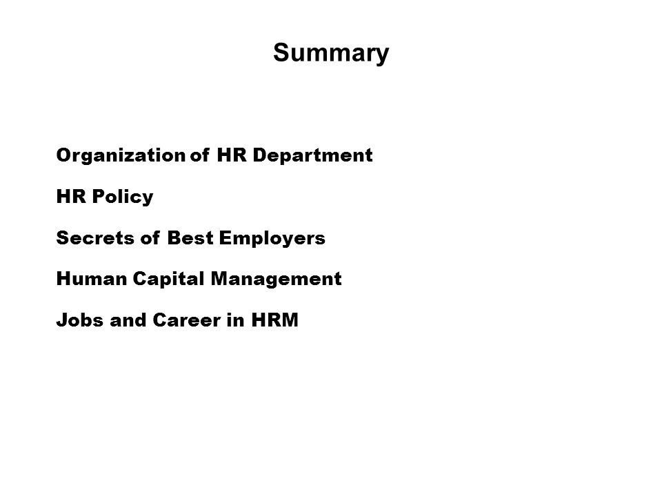 understanding the nature and scope of hrm