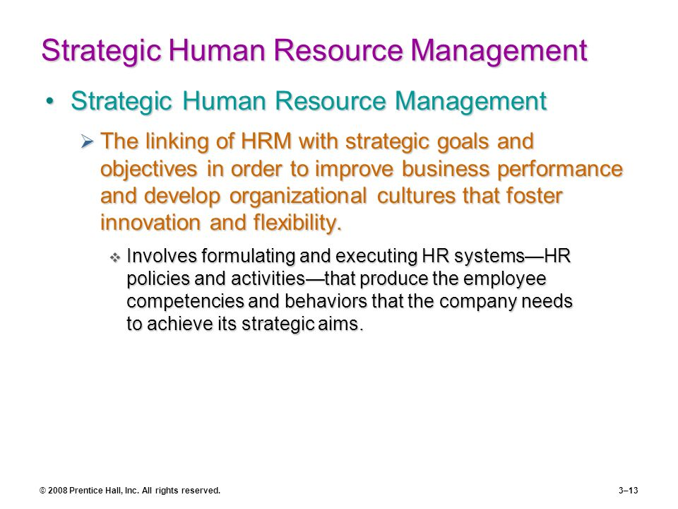 human resource management and implementing