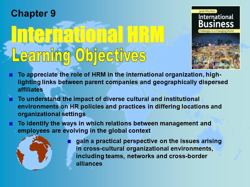 role of culture in ihrm International human resource management: policy and practice for multinational   and implication for human resource management function.