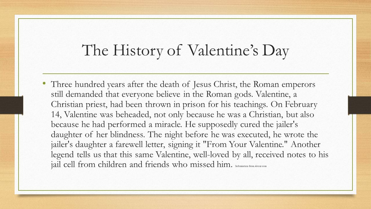 The History Of Valentines Day