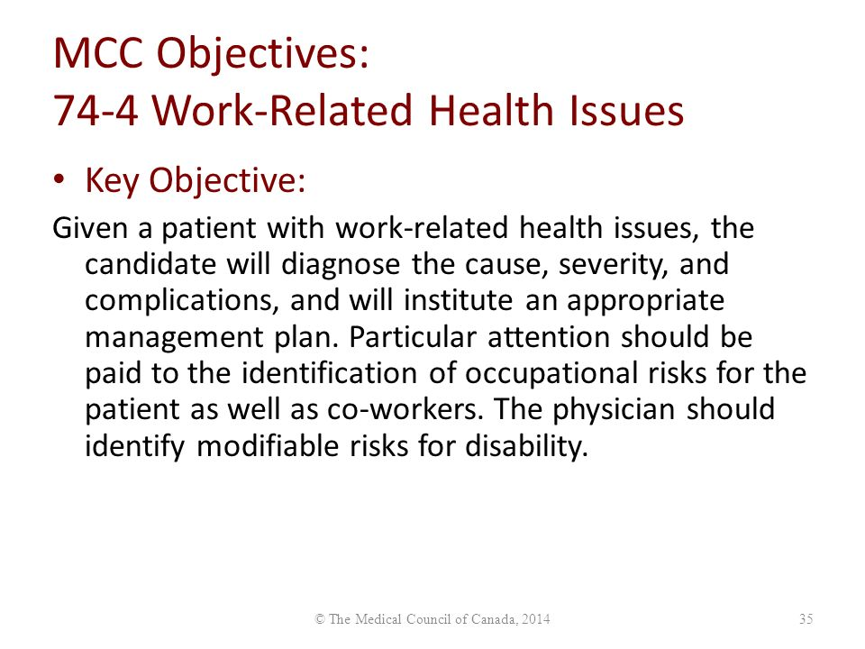 Summary -> Examination Objectives Overview Medical Council Of Canada