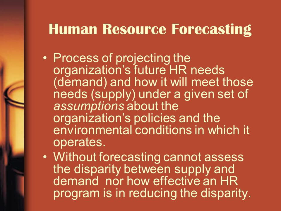 human resource demand forecasting ppt Forecasting external human resources supply describe the ways in which a surplus of  systematically forecasting the supply of and demand.