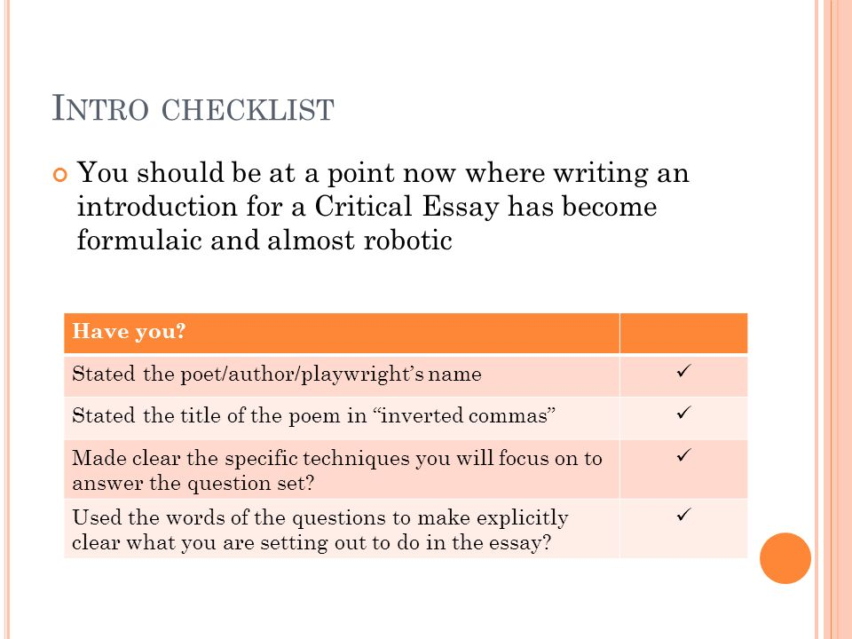 creating revision notes pee ppt  4 intro checklist