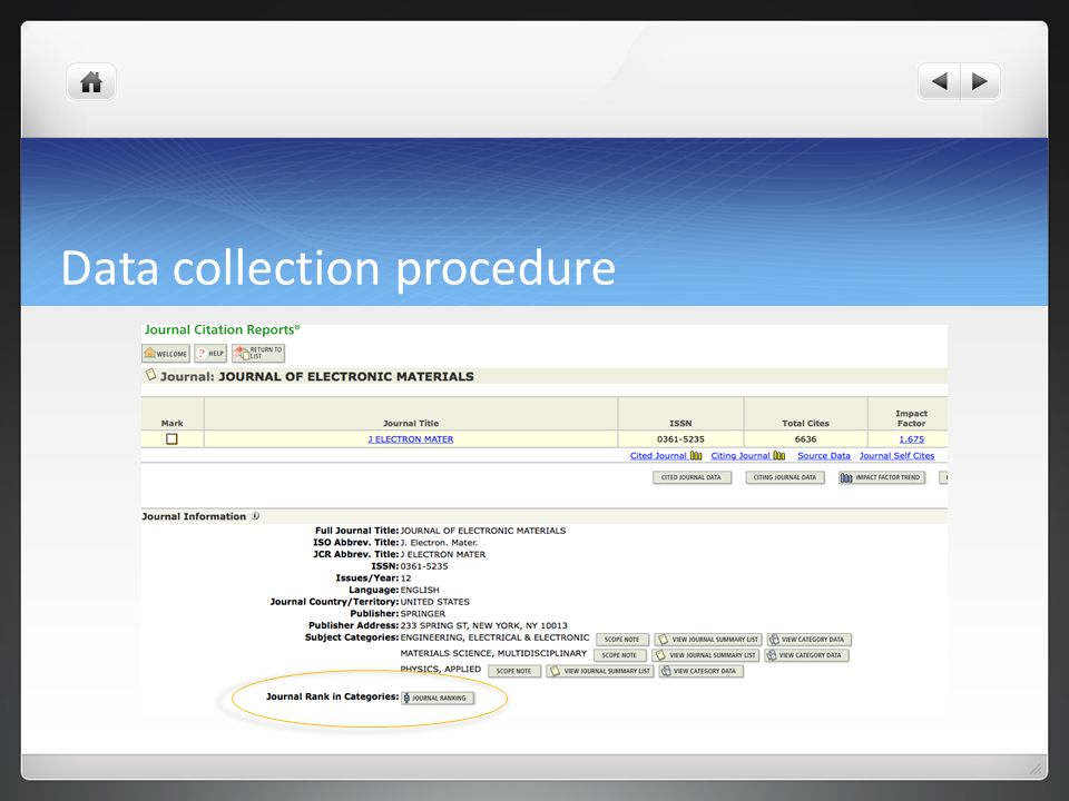 thesis data collection procedure