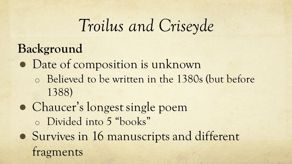 the presentation of decision making in troilus and criseyde a poem by geoffrey chaucer