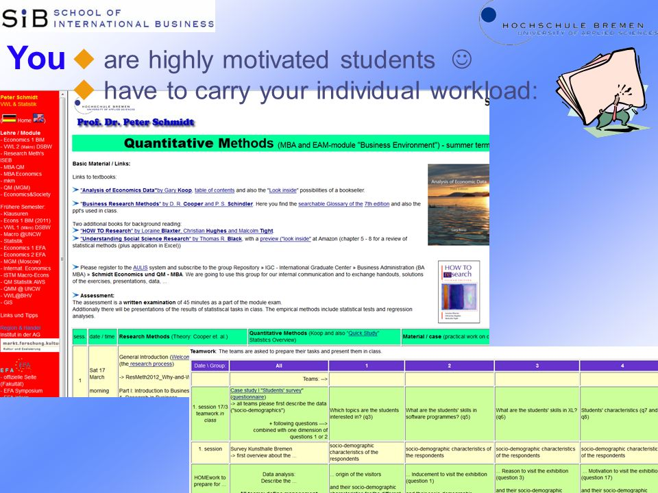 You are highly motivated students 