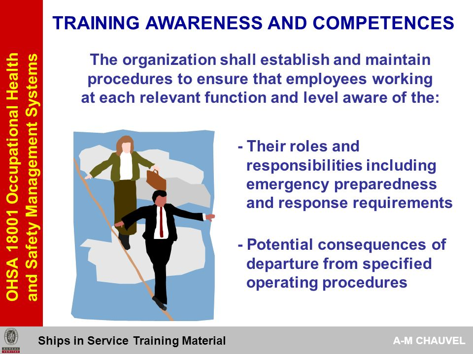 TRAINING AWARENESS AND COMPETENCES