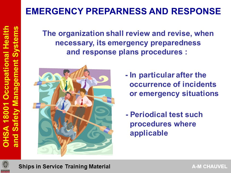 EMERGENCY PREPARNESS AND RESPONSE