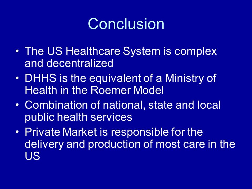 The challenge of complexity in health care