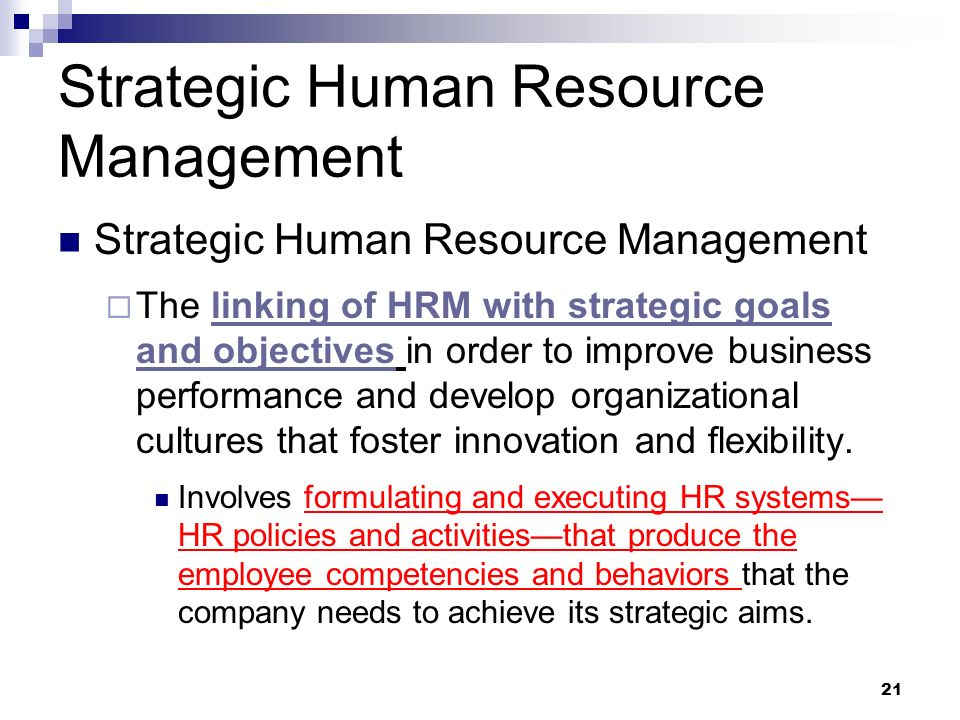 hrm strategic goals and objectives Objectives of hrm – unfolding 4 main objectives  goals, human resource management also describes the key problems to be taken care of and governs rules and .