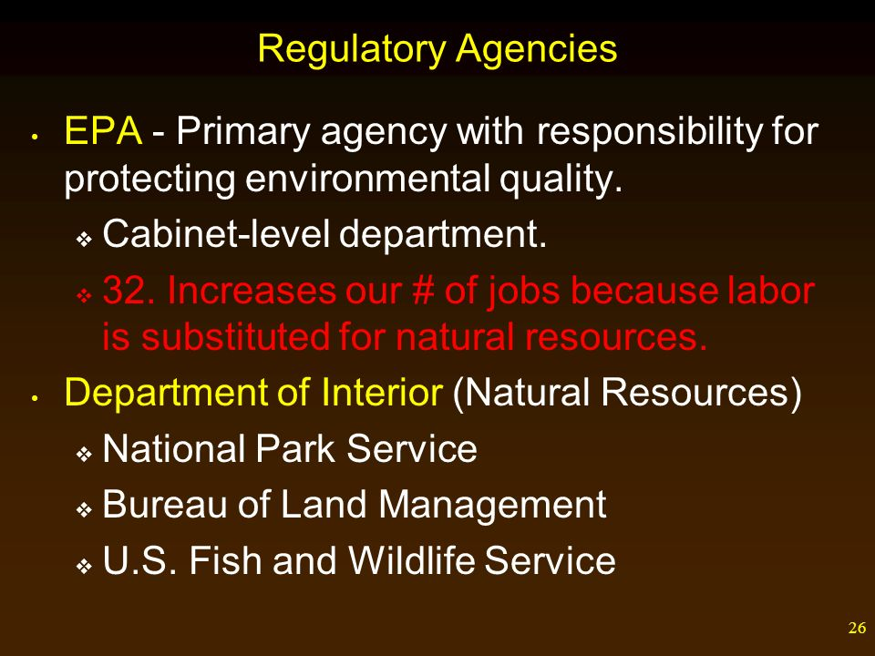 26 Regulatory ...