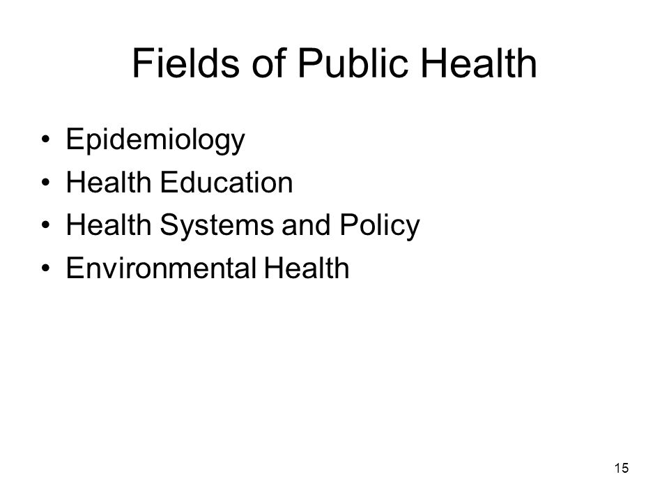 "What is Public Health? ""Public health is what we, as a ..."