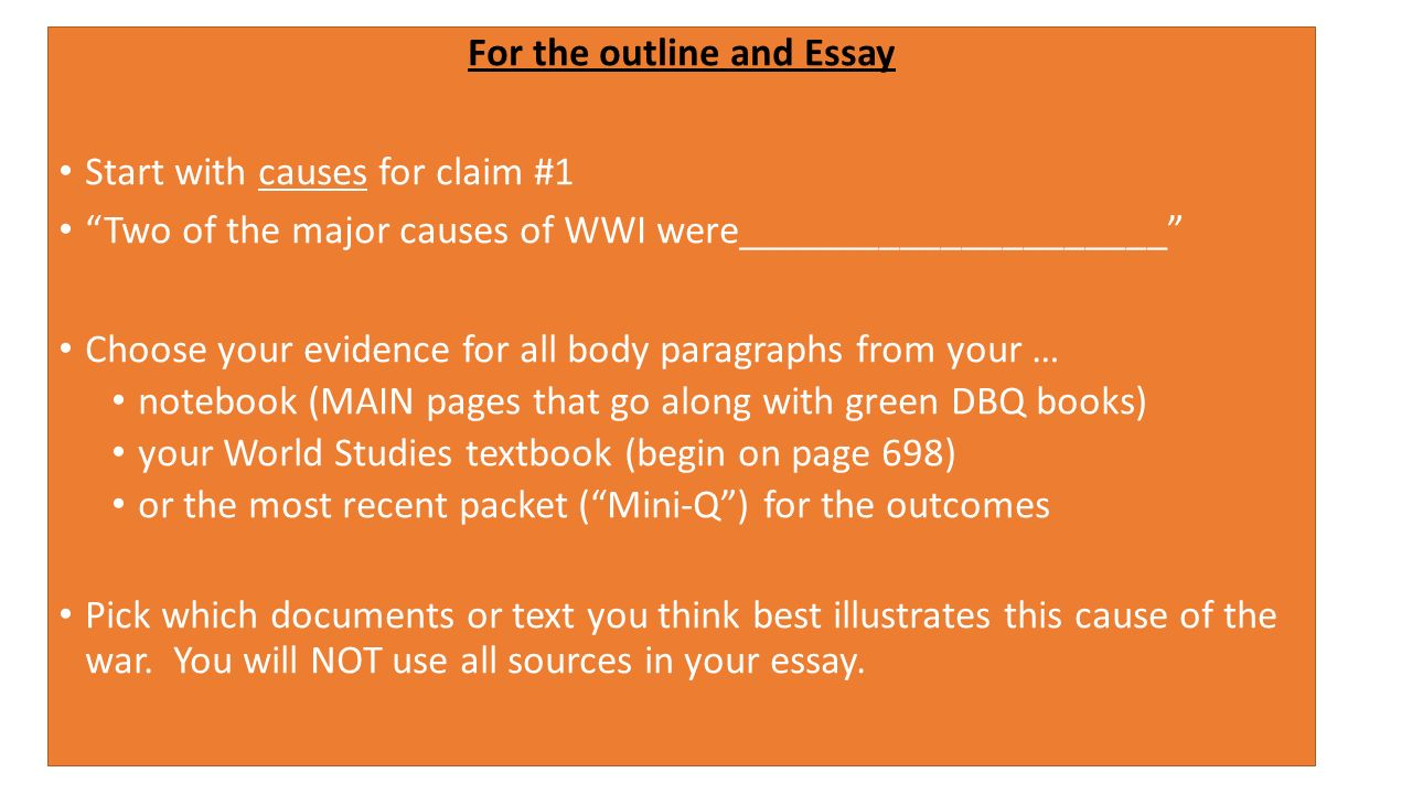 Causes Of World War 1 Essay Conclusion - Essay Topics