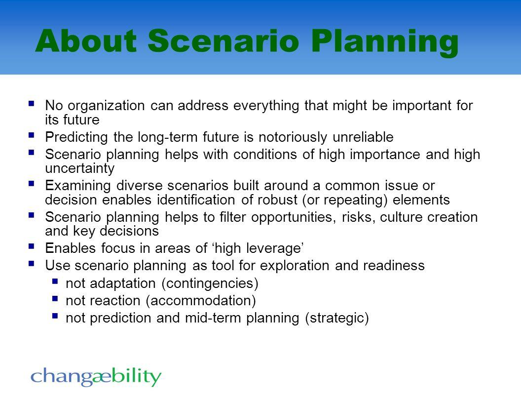 About Scenario Planning