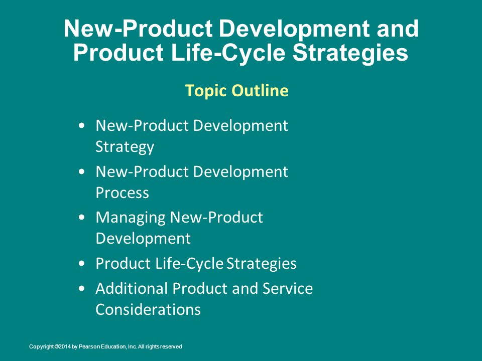 New product development and product life cycle strategies for Product development inc