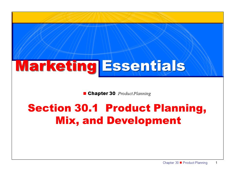 Section 301 Product Planning Mix And Development