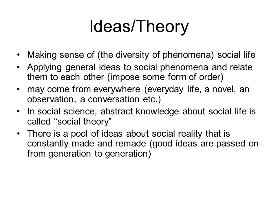 making sense in the social sciences pdf