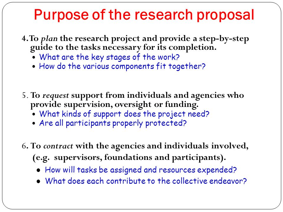 purpose of research proposal Guidelines for literature/review proposal never written a proposal or data based research paper before purpose with research question(s.