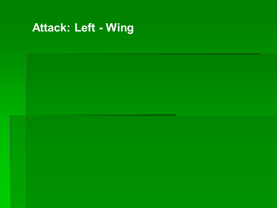 Attack: Left - Wing