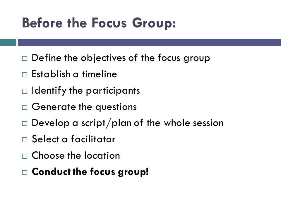 How to Design a Focus Group Research Proposal