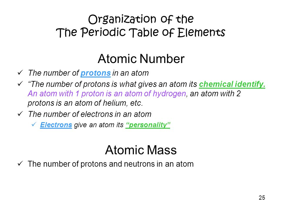 relationship between atomic weight and number of oxygen