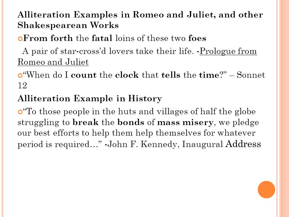 Alliteration Examples In Romeo And Juliet Images Example Cover