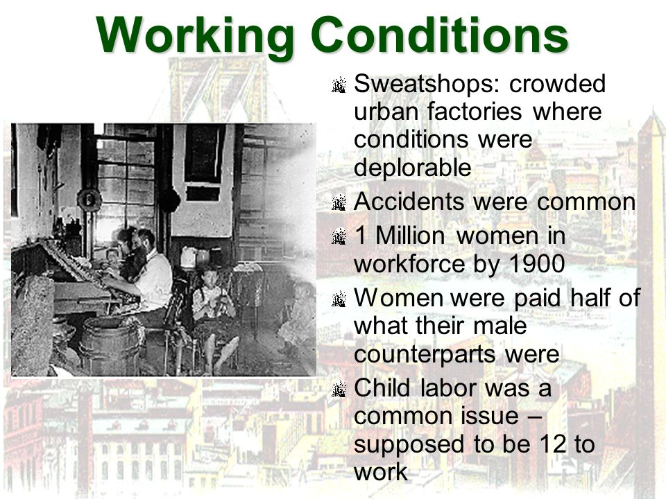 an introduction to the issue of working in sweatshops In 1909, a terrible factory fire occurred which caused the inception of numerous labour laws such as the new york factory act and fair labour standards act of 1938 the laws almost eradicated sweatshops, encouraging rapid unionization and real wage increases however, in the 1990s sweatshops returned to america.