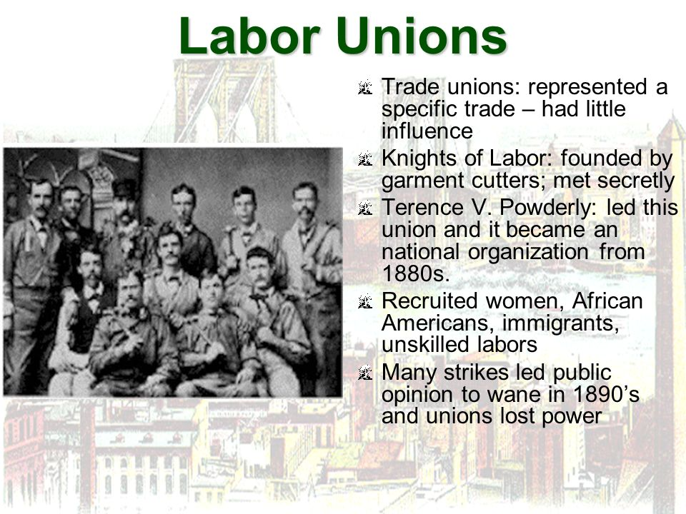 a comparison of the two union leaders samuel gompers and terence powderly The inventory of american labor landmarks includes a monument to terence v powderly included are leaders: samuel gompers, john l lewis, a philip randolph, eugene v debs, and mother jones.