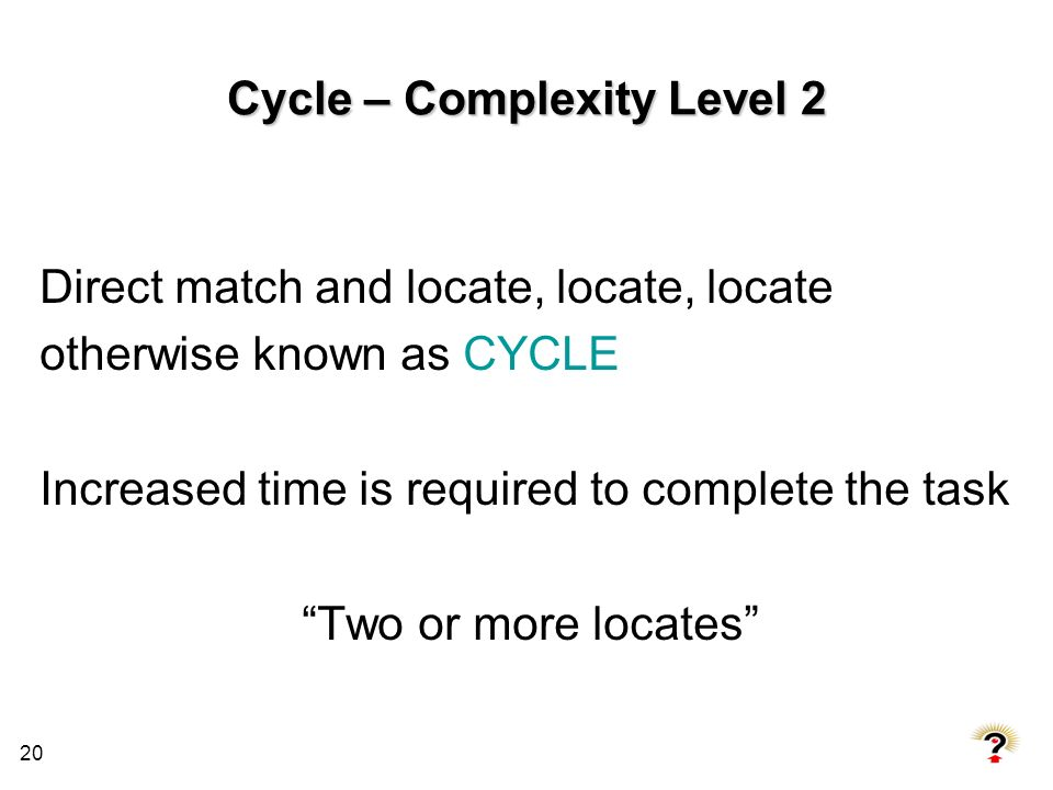 Cycle – Complexity Level 2