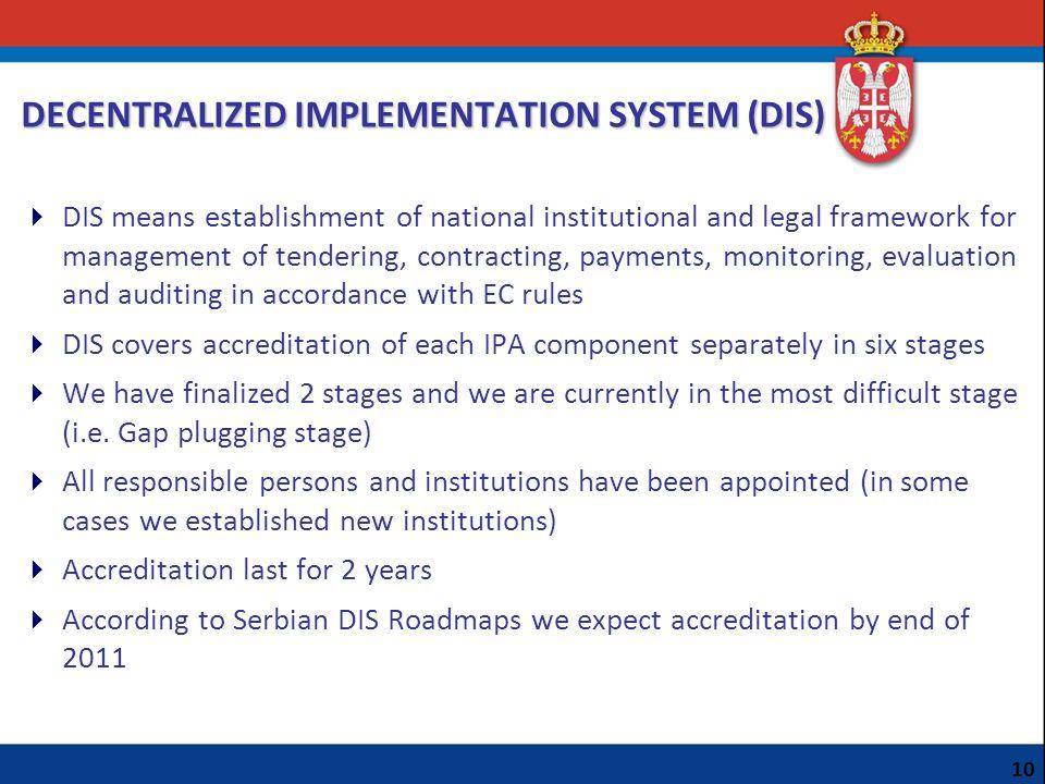 DECENTRALIZED IMPLEMENTATION SYSTEM (DIS)
