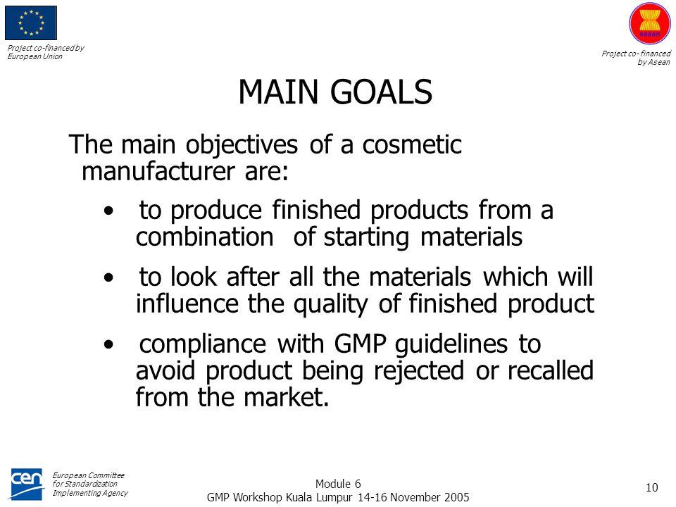 GMP Workshop Kuala Lumpur 14-16 November 2005