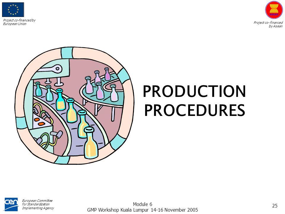 PRODUCTION PROCEDURES
