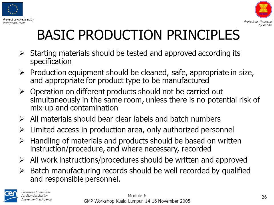 BASIC PRODUCTION PRINCIPLES