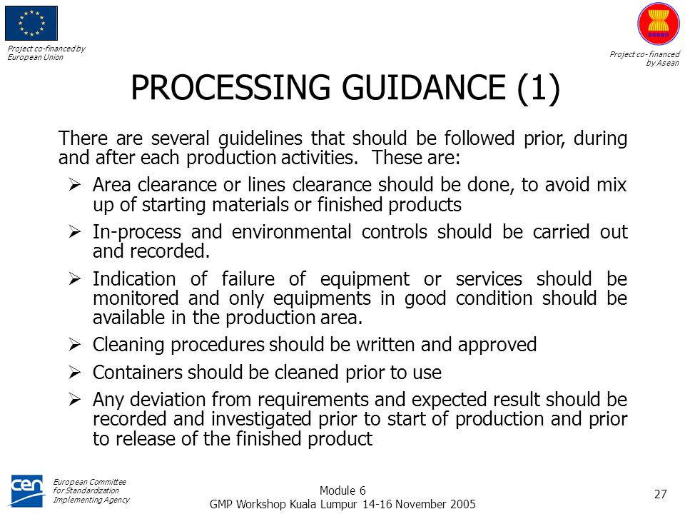 PROCESSING GUIDANCE (1)