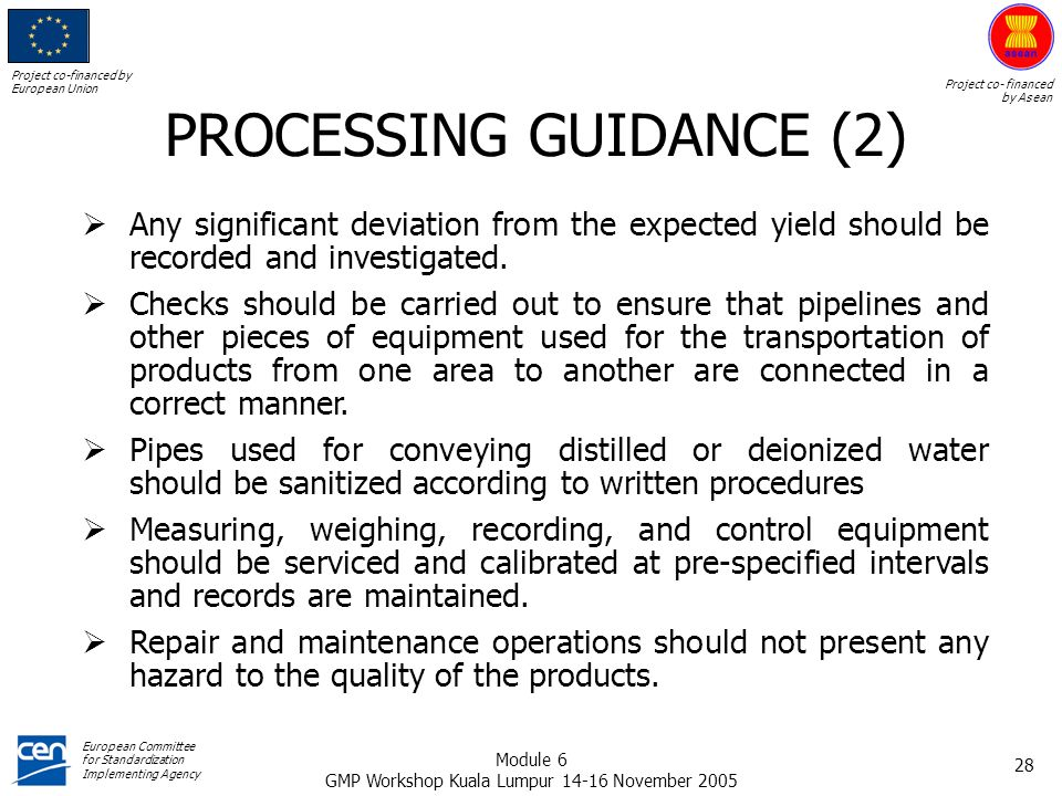 PROCESSING GUIDANCE (2)
